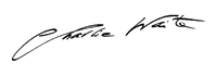 Charlie Waite signature